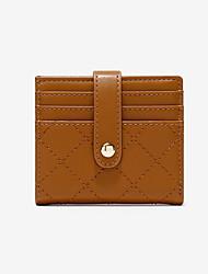 cheap -Women's Zipper PU Leather Wallet 2020 Black / Red / Yellow