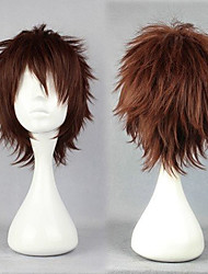 cheap -Cosplay Costume Wig Synthetic Wig Cosplay Wig Mitsuru Tenma Gintama Ensemble Stars Curly Cosplay Layered Haircut Wig Short Brown Silver Blonde Black Synthetic Hair 10 inch Men's Cosplay Brown hairjoy