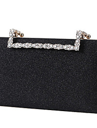 cheap -Women's Bags Polyester Evening Bag Crystals Chain Solid Color Wedding Bags Wedding Party Event / Party Sillver Gray Black Red Champagne