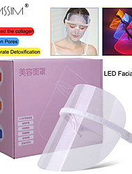 cheap -LED facial mask phototherapy 3-color LED lamp beauty instrument facial SPA treatment anti-aging anti-acne facial mask beauty