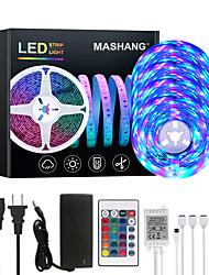 cheap -20M LED Strip Lights RGB Tiktok Lights 1200LEDs Flexible Color Change SMD 2835 with 24 Keys IR Remote Controller and 100-240V Adapter for Home Bedroom Kitchen TV Back Lights DIY Deco
