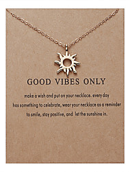 cheap -Women's Pendant Necklace Necklace Classic Sun Simple Fashion Classic Holiday Alloy Gold 53.5 cm Necklace Jewelry 1pc For Street Gift Birthday Party Beach Festival