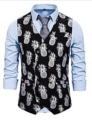 cheap -Men's Vest Fruit Gold / Silver US38 / UK38 / EU46 / US40 / UK40 / EU48 / US42 / UK42 / EU50
