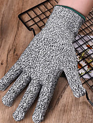 cheap -1 Pair Gloves Cut Resistant High Performance Level 5 Protection Kitchen Tool Fishing Hunting Gloves Steel Wire Mesh Gloves Fishing Tools