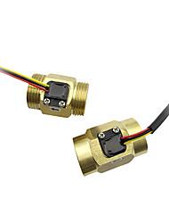 cheap -Cooper Material G 3/4 45mm Accessories Electric Hot Water Heater Flow Switch Temperature Sensor Flow Meter SEN-HZ43WB