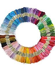 cheap -50pcs Random Color embroidery DIY Silk Line Branch Threads Similar Dmc Thread Floss Skein Cross Stitch Thread