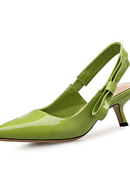 cheap -Women's Clogs & Mules Spring Fall Pumps Pointed Toe Office & Career Home Patent Leather Black / Red / Green
