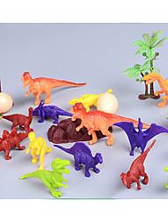 cheap -Dinosaur Figure Jurassic Dinosaur Simulation Non-toxic ABS Plastic For Kid's Boys' Girls' Gift 21 pcs