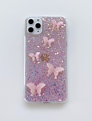 cheap -Apple Case For iPhone7 8 7plus 8plus XR XS XSMAX X 11 11Pro 11ProMax Translucent Pattern Back Cover Animal Glitter Shine TPU