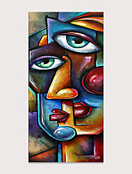 cheap -Picasso Style Two-Faced Portrait Oil Painting Hand Painted Wall Art Photos Decor Living Room Bedroom Decoration No Frame Rolled Without Frame