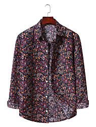 זול -בגדי ריקוד גברים גראפי דפוס חולצה הוואי ליציאה יין / כחול ים