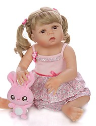 cheap -KEIUMI 22 inch Reborn Doll Baby & Toddler Toy Reborn Toddler Doll Baby Girl Gift Cute Washable Lovely Parent-Child Interaction Full Body Silicone KUM23FS04-WGW08 with Clothes and Accessories for