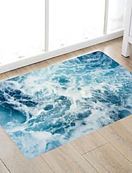 cheap -Blue Ocean Wave Modern Bath Mats Nonwoven / Memory Foam Novelty Bathroom