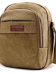 cheap -Men's Canvas Crossbody Bag Canvas Bag Black / Blue / Army Green