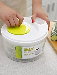 cheap -Salad Spinner, for Kitchen Drain Lettuce Easily Washer Dryer, Fruits and Vegetables Dryer Quick Dry, Easy One-Hand Pump Operation(White)