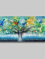 cheap -Oil Painting Hand Painted Abstract Abstract Landscape Comtemporary Modern Large Rolled Canvas Trees Green Rolled Without Frame