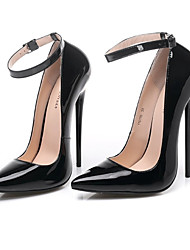cheap -Women's Heels Stiletto Heel Pointed Toe Sexy Wedding Party & Evening Patent Leather Solid Colored Black Red