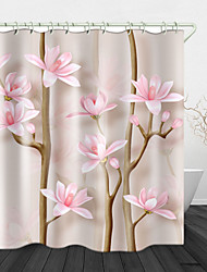 cheap -Beautiful Flowers Digital Print Waterproof Fabric Shower Curtain For Bathroom Home Decor Covered Bathtub Curtains Liner Includes With Hooks