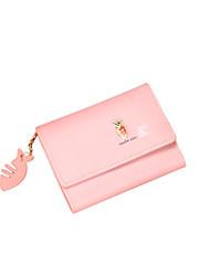 cheap -Women's Zipper PU Leather Wallet Animal Wine / Black / Blushing Pink