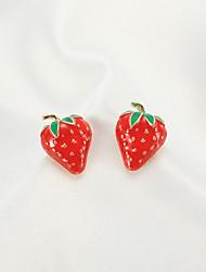 cheap -Women's Stud Earrings Earrings Strawberry Korean Sweet Fashion Cute Earrings Jewelry Red For Birthday Gift Date Vacation 1 Pair