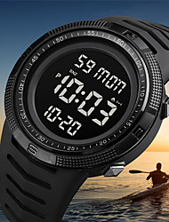 cheap -SKMEI Men's Digital Watch Digital Digital Modern Style Sporty Army Calendar / date / day Chronograph Alarm Clock / One Year / Silicone
