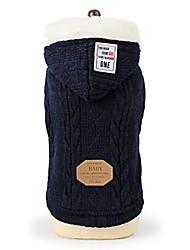cheap -pet clothes, 2017 handmade pet sweater dog cat puppy winter warm clothes jacket coat apparel & #40;m, dark blue& #41;
