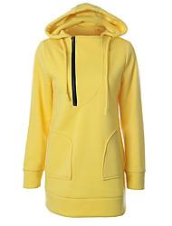 cheap -Women's Hoodie Solid Colored Casual Hoodies Sweatshirts  Yellow Blushing Pink Orange