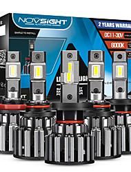 cheap -2pcs NOVSIGHT F03 H7 LED H4 H11 9006 9005 Car Headlights Bulbs 90W 15000LM Decoder Automobile LED Headlamp Front Lights 6000K 12V 24V