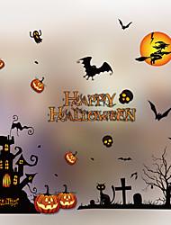 cheap -Halloween Party Toys Window Sticker Halloween Window Clings 6 pcs Cat Skull Skeleton Pumpkin Cartoon Bat Paper Kid's Adults Trick or Treat Halloween Party Favors Supplies