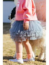 billige -Tutu kjole Skjørt Fallende drapering Ruchiing Jente Trening Ytelse Naturlig Polyester
