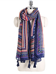 cheap -Women's Active Rectangle Scarf - Striped / Print / Color Block Multifunctional