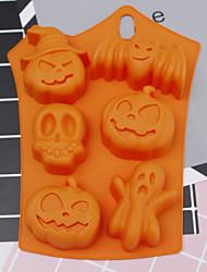 cheap -Halloween Party Halloween Silicone Mold 6 Cavities Pumpkin Ghost Bat Shape Cookies Chocolate Molds