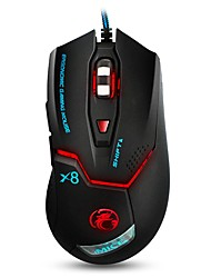 cheap -LITBest X8 Wired USB Optical Gaming Mouse Ergonomic Mouse Led Breathing Light 800/1200/2400/3200 dpi 4 Adjustable DPI Levels 6 pcs Keys