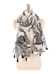 cheap -Women's Tassel Rectangle Scarf - Floral Washable