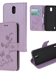 cheap -Case For Nokia 2.3 Nokia 4.2 Nokia 1.3 Nokia 5.3 Pattern Magnetic Full Body Cases Solid Colored PU Leather