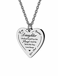 cheap -to my beautiful daughter necklace from mom dad i asked god for an angel and he sent me you perfect mother daughter gift for mother's day (dad to daughter)