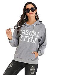 cheap -Women's Pullover Hoodie Sweatshirt Letter Streetwear Hoodies Sweatshirts  Gray