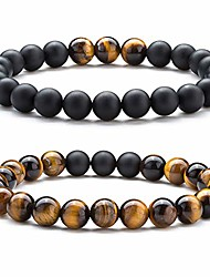 cheap -8mm volcanic stone beads essential oil bracelet elastic natural stone yoga bracelet bangle(lava matte agate)