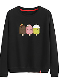 cheap -Women's Cotton Sweatshirt Long Sleeve Cartoon Sport Athleisure Pullover Breathable Warm Soft Comfortable Everyday Use Exercising General Use