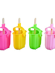 cheap -Ice Tools Full Body Silicone Cartoon Party Evening Drinkware Silicone Ice Cream Mold Random Color