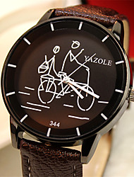 cheap -YAZOLE Unisex Sport Watch Quartz Modern Style Sporty Casual Water Resistant / Waterproof Analog White Black Red / Leather