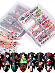 cheap -10pcs/box Nail Halloween Nail Art Starry Sticker Set Nail Sticker Transfer Paper Christmas Starry Paper