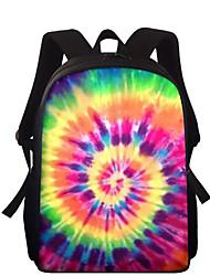 cheap -Large Capacity School Bag Unisex Polyester Pattern / Print Zipper Scenery School Purple / Fuchsia / Orange / Green / Sky Blue