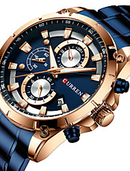 cheap -Men's Military Watch Quartz Modern Style Stylish Outdoor Water Resistant / Waterproof Analog Black Blue Gold / One Year / Stainless Steel / Japanese / Chronograph / Shock Resistant