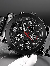 cheap -SKMEI Steel Band Watches Quartz Sporty Outdoor Chronograph Analog - Digital Black Gold Silver / Stainless Steel / Noctilucent