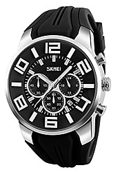 cheap -gets unique big face sports watch silicone band sport outdoor wristwatches design quartz casual watches for men (black 2)