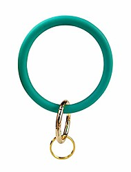 cheap -silicone bangle key ring bracelet key rings, round keyring circle key ring holder for women girls ideal gifts (green 2)