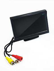 cheap -5 Inch Car Monitor LCD Color Display Monitor 24V/12V For Car Bus Truck Cctv Reverse Rear View Backup Camera Bracket or Suction Cup Optional