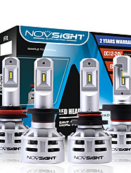 cheap -NOVSIGHT LED Car Light Bulbs 2pcs H4-H7-H11-9005(HB3)-9006(HB4) 60W 10000lm LED Headlamps For universal General Motors All years With Set Up video