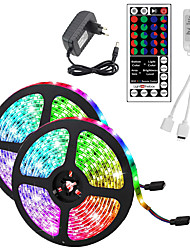 cheap -10M(2x5M) Waterproof Flexible LED Strip Lights RGB Tiktok Lights 2835 600LEDs 8mm 44Keys IR Remote Controller